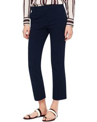 Tory Burch Cotton Crepe Skinny Pant - Lyst