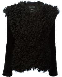 Isabel Marant Black Cropped Coat - Lyst