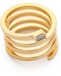 Jennifer Zeuner - Fortuna Ring - Gold/clear - Lyst
