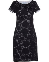 Blumarine Short Dress black - Lyst