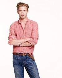 J.Crew Slim Japanese Chambray Shirt In Sunwashed Red - Lyst