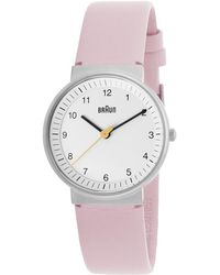 Braun - Women's Classic Light Pink Genuine Leather White Dial - Lyst