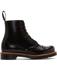 Dr. Martens Black Leather 8_eye Boots - Lyst