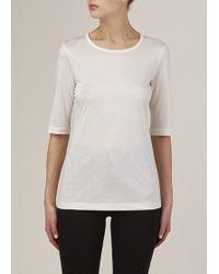 Jil Sander   White Half Sleeve T Shirt   Lyst