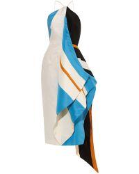 Rosie Assoulin Calatrava Striped Halterneck Dress - Lyst