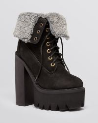 Jeffrey Campbell Lace Up Platform Lug Sole Combat Boots - in Charge - Lyst