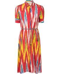 Altuzarra   Printed Belted Shirt Dress   Lyst