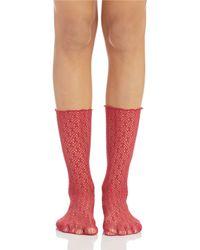 Free People Mesh Boot Socks - Lyst