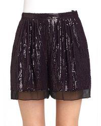 Diane von Furstenberg Sandra Cuvet Sequin Shorts - Lyst