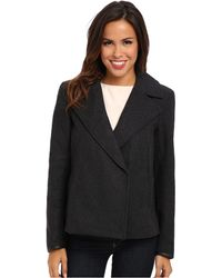 Calvin Klein Jeans Cropped Peacoat - Lyst