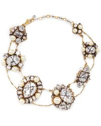 Erickson Beamon 'Stratosphere' Crystal Faux Pearl Cluster Necklace - Lyst