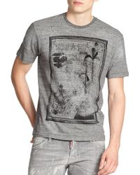DSquared² D2 Palm Sketch-Print Tee - Lyst