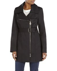 Ivanka Trump Asymmetrical Belted Trench Coat - Lyst