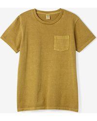 Velva Sheen Pigment Dyed Crew Neck Short Sleeve Tee yellow - Lyst