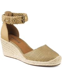 Sperry Top-Sider - Espadrille Wedge Sandals - Valencia Closed Toe Metallic - Lyst
