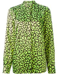 Christopher Kane Leopard Broderie Blouse - Lyst