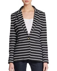 Saks Fifth Avenue Black Label - Striped Jersey Blazer - Lyst