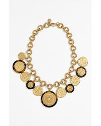 Tory Burch 'Shiloh' Frontal Necklace gold - Lyst