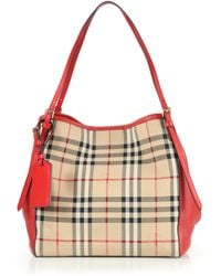 Burberry | Canter Small Horseferry Check Tote | Lyst