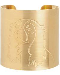 K Kane - 18k Gold-plated Cavalier King Charles Spaniel Dog Cuff - Lyst