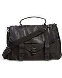 Proenza Schouler Women'S 'Extra Large Ps1' Nylon & Leather Messenger Bag - Black - Lyst