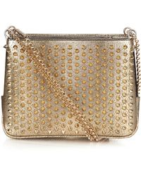 Christian Louboutin - Triloubi Spiked Leather Shoulder Bag - Lyst
