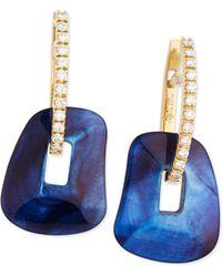 Mattioli - Diamond-trimmed 18k Gold Puzzle Hoop Earrings - Lyst