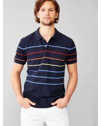 Gap Thin Stripe Pique Polo - Lyst