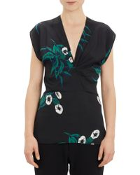Marni Floral Cap-Sleeve Top - Lyst