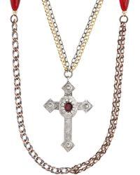 Gabriele Frantzen - Cross Grasse Gold Necklace - Lyst