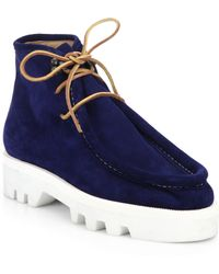 DSquared² Suede Lace-Up Ankle Boots - Lyst