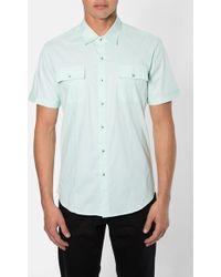7 Diamonds 'American Band' Trim Fit Cotton Sport Shirt - Lyst