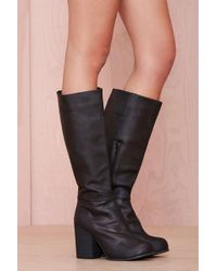 Nasty Gal Jeffrey Campbell Sark Leather Boot - Lyst