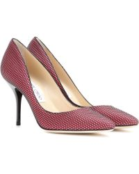 Jimmy Choo Mei Suede and Mesh Pumps - Lyst