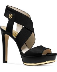 Michael Kors Michael Meadow Platform Sandals black - Lyst