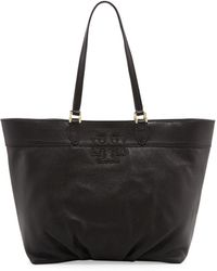 Tory Burch East-West Stacked-T Tote Bag - Lyst