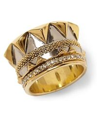 House Of Harlow Crown Ring - Lyst