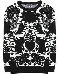 Alexander McQueen Black Jacquard Sweater - Lyst