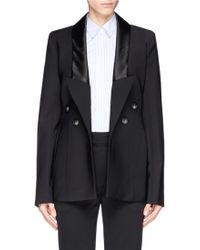 Ellery 'Christen' Silk Satin Trim Cutout Back Jacket - Lyst