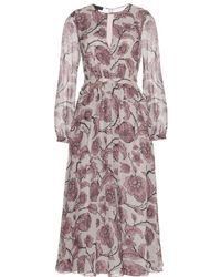 Burberry Prorsum Printed Silk Georgette Dress - Lyst
