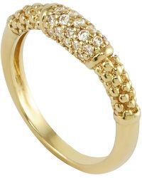 Lagos 18k Pave Diamond Caviar Ring - Lyst