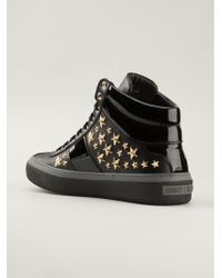 Jimmy Choo Belgravia Hitop Sneakers - Lyst