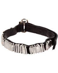 Goti Black and Silver Bracelet - Lyst