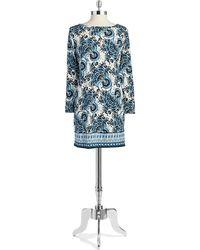 MICHAEL Michael Kors Petite Paisley Shift Dress - Lyst