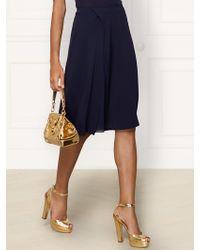 Ralph Lauren Collection Silk Stephanie Skirt - Lyst