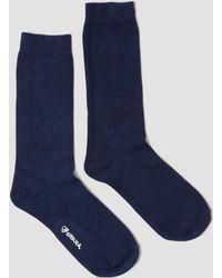 Blue Blue Japan   Indigo Hand Dyed Socks Indigo   Lyst