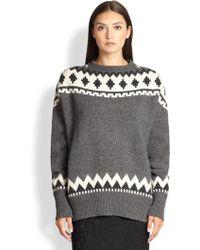 Adam Lippes Wool Cashmere Fair Isle Sweater - Lyst