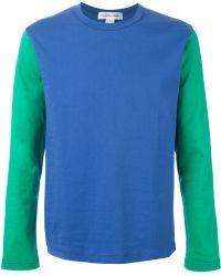Comme des Garçons Contrasting Long Sleeves T-Shirt - Lyst