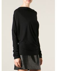 Vivienne Westwood Anglomania Black Draped Top - Lyst
