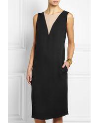 Lanvin Silk Crepe De Chine Dress - Lyst